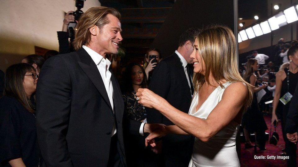 Süße Reunion von Brad Pitt & Jennifer Aniston