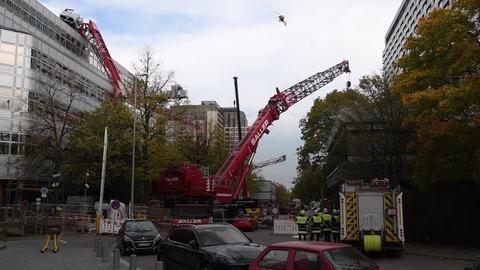 München: Zwei Schwerverletzte bei Kran-Unfall