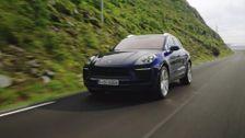 The new Porsche Macan Gentian Blue Metallic Driving Video