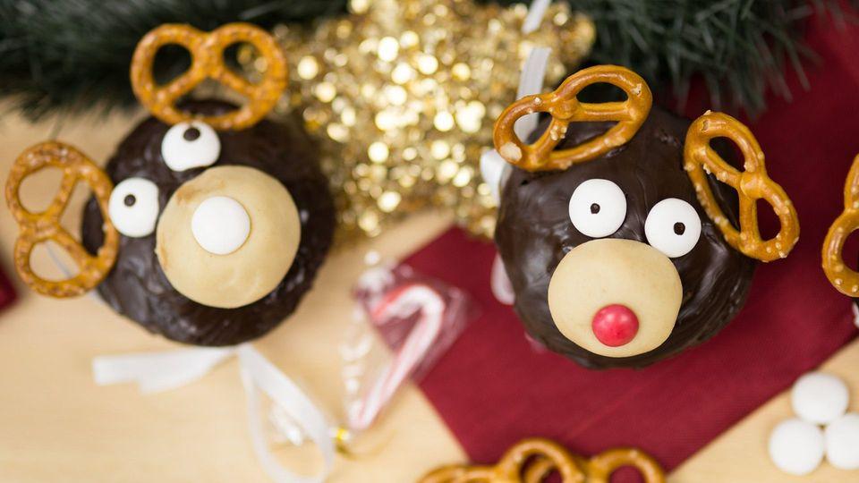 Rentier-Muffins: So einfach zauberst du diese süßen XMas-Cupcakes