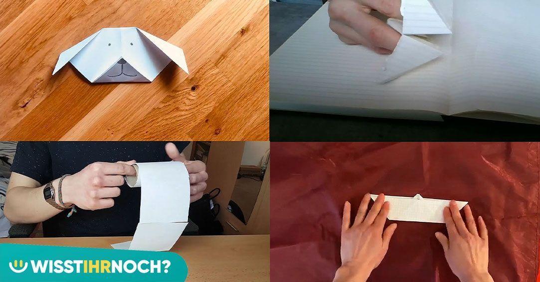 Diese Dinge kannst du ganz einfach aus einem Blatt Papier machen!