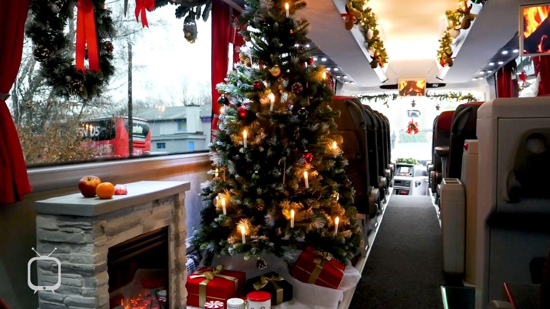 Wie ein Bus aus Marl zum Weihnachtsbus wurde