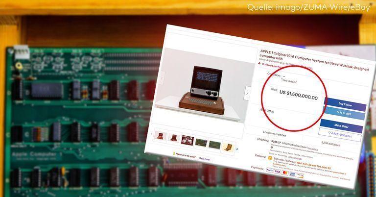 Dieser 45 Jahre alte Apple-Computer ist 1,5 Mio. Dollar wert