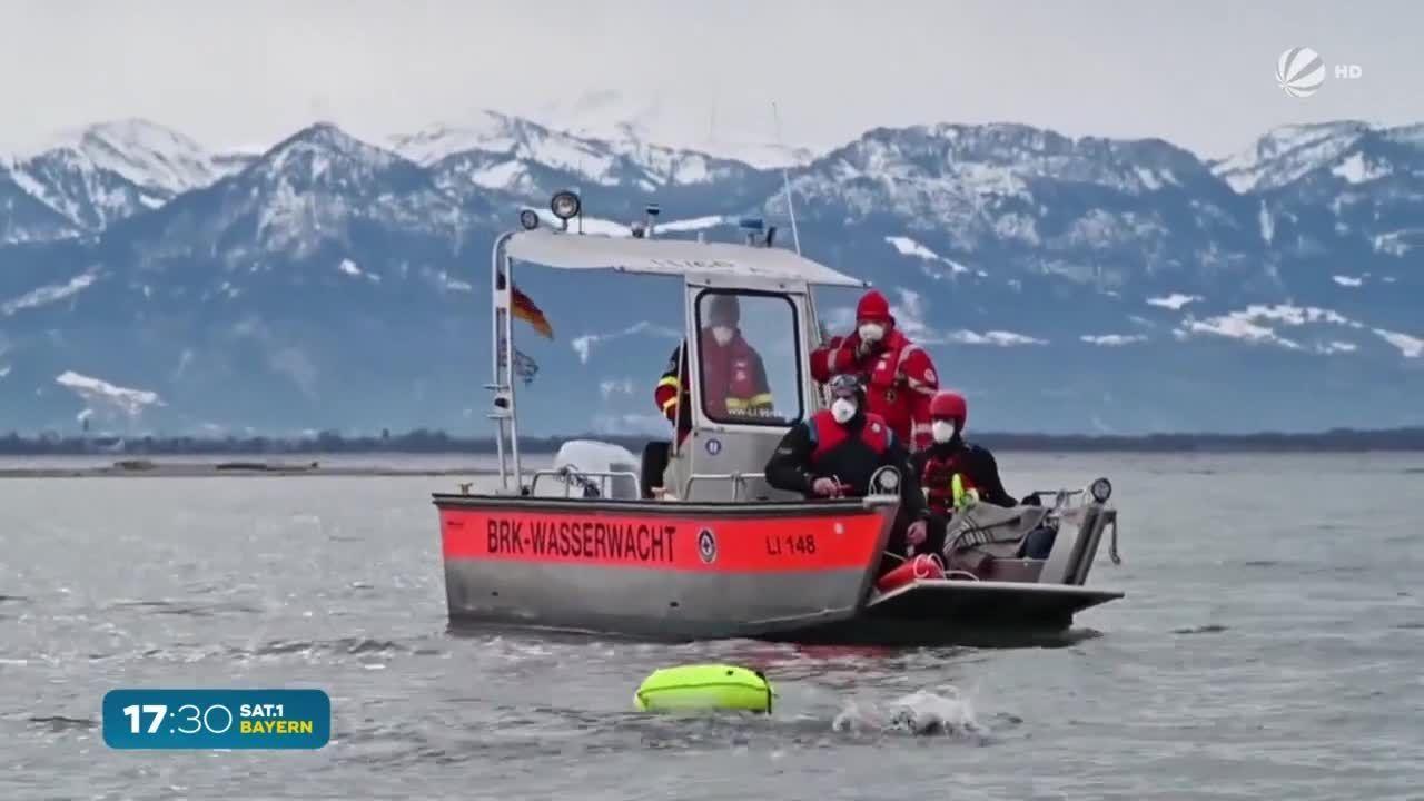 43 Minuten im eiskalten Bodensee: Deutscher Rekord im Eiswasser-Schwimmen